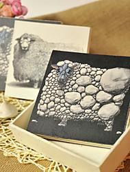 Black And White Sheep Hand Tearing Hard Cover Creative Notebooks((Black,White,2 Books)