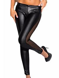 Women's Sexy/Casual Stretchy Medium Skinny Pants (Silk)
