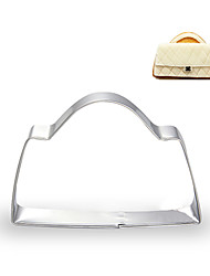 Fashion Girl Handbag Shape Cookie Cutters Fuirt Cut Moulds Stainless Steel