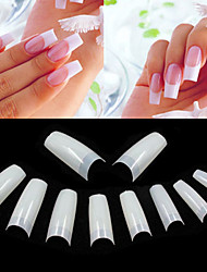 500 Professional Natural Color Korean Standards Half Well False Acrylic Nail Art Tips(50PCSx10 Sizes Mixed)