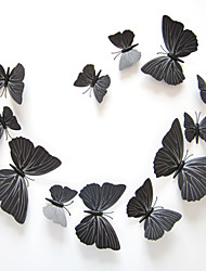 3d pegatinas de pared de estilo calcomanías mariposa negro pegatinas de pared del pvc