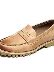 Zapatos de Hombre Boda/Oficina y Trabajo/Casual Cuero Mocasines Azul/Marrón/Beige