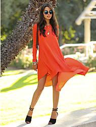 Women's Round Dresses , Chiffon Casual Sleeveless SASA