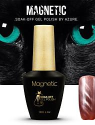 Azure UV Cat Eyes Magnetic UV Gel Polish Soak Off Nails Art lasting Lacquer 63#-74#(12ml,48 Colors)