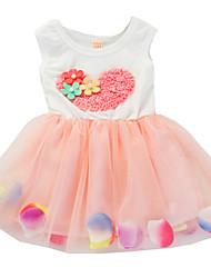 Children Girls Baby Sleeveless Cotton Tulle Summer Sundress Dress Clothes