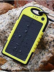 5500mAh nova bateria externa banco energia solar