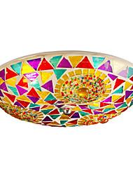BOXOMIYA® Mediterranean style ceiling lamp diameter 40cm bedroom dining room led garden suction top lamps