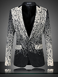 Blazer Hommes,Tartan Décontracté / Quotidien Grandes Tailles Manches Longues Coton Autres