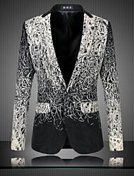 de los hombres de manga larga chaqueta normal, algodón / poliéster tamaño m 6XL