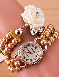 Women's Watches Pearl Bracelet Tassel Rose Double Ring Winding Fashion Watches Cool Watches Unique Watches