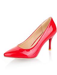 Damenschuhe Kunstleder Stöckelabsatz Absätze/Spitzschuh Pumps / High Heels Büro/Kleid/Lässig Schwarz/Rot/Beige