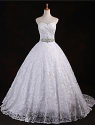 A-line Floor-length Wedding Dress -Sweetheart Lace