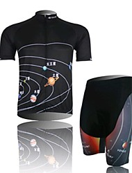 Star Cycling Wear Short Sleeved Suit, Moisture Cycling Wear, Motor Function Material