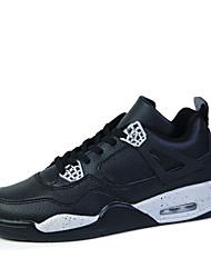 Sapatos Masculinos - Tênis Social - Verde / Branco / Cinza / Preto e Vermelho / Preto e Branco - Couro / Tecido - Casual