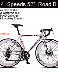 "14 Speeds 700C*23 Road Bike Eurobike™ 52""inch Cycling Aluminium Alloy Frame Double Disc Brake  70mm Width Wheels"