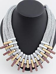 Femme Colliers Déclaration Alliage Bijoux de déclaration Européen 1 2 3 Bijoux Pour Soirée Décontracté 1pc