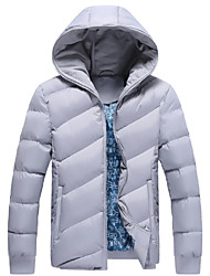 Men's Autumn And Winter Fashion Thick Cotton Padded Jacket Hooded Coat