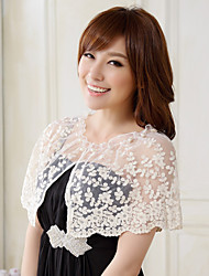 Wedding Wraps Lace/Polyester Fashion Matching Party Capelets Black/White