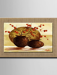 Oil Paintings One Panel Modern Abstract Still Life Hand-painted Natural Linen Ready to Hang