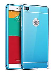 Pour Coque Huawei P9 P8 P8 Lite Plaqué Miroir Coque Coque Arrière Coque Couleur Pleine Dur Acrylique pour HuaweiHuawei P9 Huawei P8
