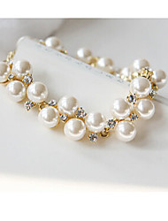 Masoo Women's Fashion High Quality Rhinestone Pearl Bracelet