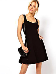 Women's Solid Dress,Casual
