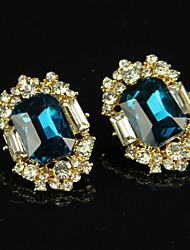 Women's Fashion Transparent Rhinestones Earrings 1pair