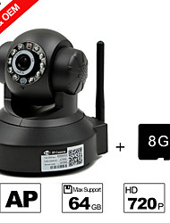 Besteye® PTZ IP Surveillance Camera 720P IR Cut Video Capture (8GB Micro SD Card)