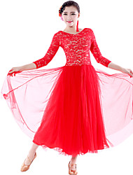 Vestidos ( Negro/Verde claro/Rojo , Encaje/Tul , Danza Moderna/Desempeño ) - Danza Moderna/Desempeño - para Mujer