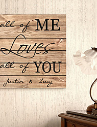 E-HOME® Personalized Signature Canvas Frame-All of Me Loves All of You