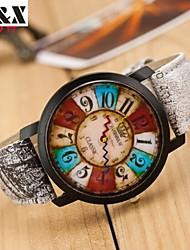 Mulheres Relógio de Moda Quartzo Couro Banda Cores Múltiplas # 1 # 2 # 3 # 4