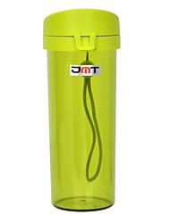 jmt h8125 bouteille étanche portable w / filtre / strap - vert translucide (480ml)