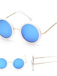 Sunglasses Men / Women / Unisex's Modern / Fashion Round Black / White / Multi-Color Sunglasses Full-Rim