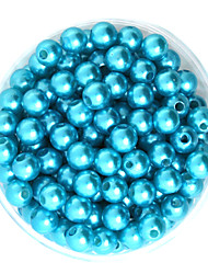 beadia 64g (aprox 300pcs) abs perlas 8 mm de color de plástico de color turquesa suelta perlas redondas accesorios de bricolaje