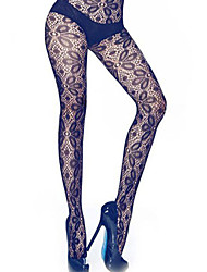 Women's Cute Thigh Tattoos Sheer Pantyhose