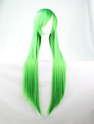 потому аниме яркие цветные парики трава зеленая длинные прямые волосы парик 80 см