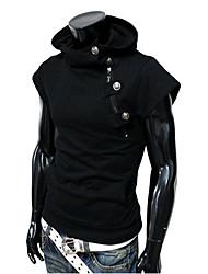 Men's Hoodie / Stand Sweats & Hoodies ,Acrylic/Cotton/Organic Cotton Short Sleeve Casual/Work Fashion All Seasons AAAMAN