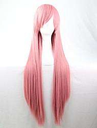 Lattichanimeperücke bunten Perücken lang Rauch rosa glattes Haar Perücke 80 cm