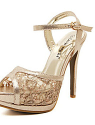 Women's Shoes Stiletto Heel Heels Sandals Office & Career/Casual Silver/Gold