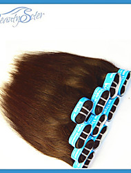 "2015 Cool Summer Style Brazilian Straight Human Hair 14""~22""Medium Brown Color Grade5A"
