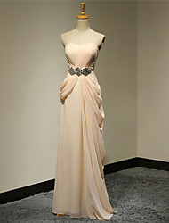 Prom / Formal Evening / Military Ball / Wedding Party Dress - Elegant / Open Back A-line Strapless Floor-length Chiffon with Beading