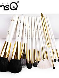 MSQ® 11pcs Makeup Brushes set Goat/Wool hair Hypoallergenic/Limits bacteria White Blush brush Shadow/Eyeliner/Lip/Brow Brush Cosmetic Brushes kit