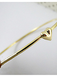 Heart Gold Plated Round Bracelet