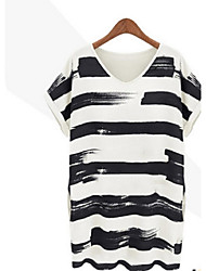 Women's CLOTHING STYLE Fresh and hit color striped  Dress