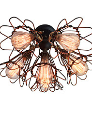 WESTMENLIGHTS 6 Lights Flower Cage Ceiling Light