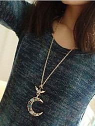 New Arrival Fashional Fresh Fashional Opal Moon Necklace