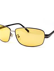 hombres 's Polarizada Rectángulo Gafas de Sol