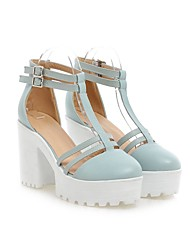 Women's Shoes  Stiletto Heel Round Toe Sandals Office & Career/Dress Blue/Pink/White