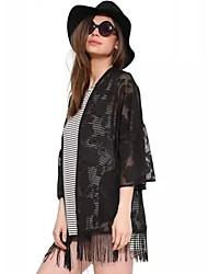 Women's Lace Black Off Shoulder ¾ Sleeve