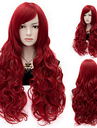 Sexy Women Anastasia  Long Wave Wig Red